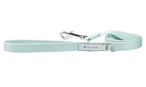 [tail and me] classic nylon belt leash mint L