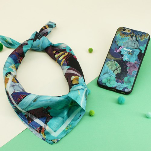 [Customized New Year Gift] Scarf Mobile Phone Case Coffee Shop Set S-SET043-FE