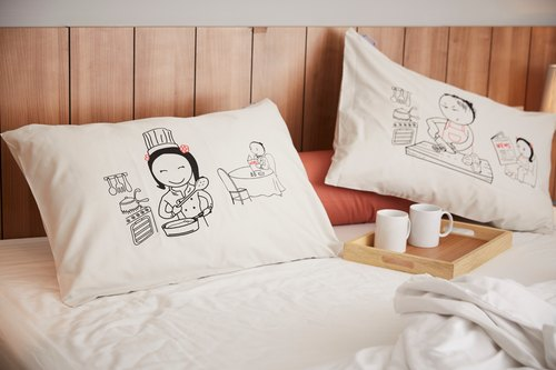 """I cook You eat"" Couple Pillow Case: 005"
