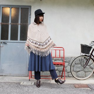 F3005 [Vintage cape] camel brown camel knit sweater shawl cape coat (Christmas gift Christmas exchange gifts)