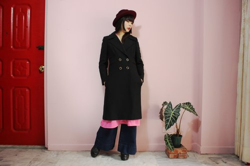 [Vintage Coat] (Made in Italy) Black Tailoring Coat Vintage coat