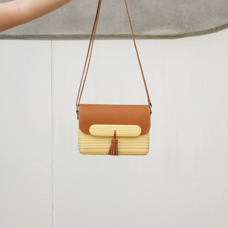Wooden Bag - TS Shoulder (Brown)