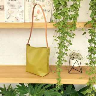 [One of a kind] Exclusive simple bucket bag / mustard yellow