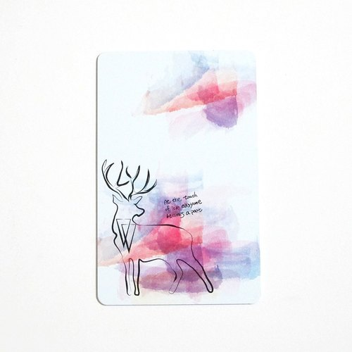 Forest Deer Leisure Card
