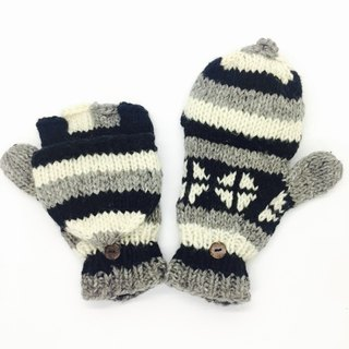 Nepal 100% wool handmade thick knitted pure wool gloves
