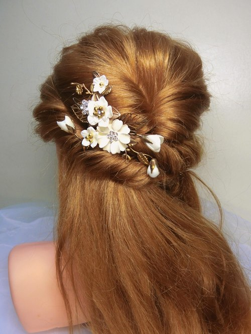 Imitation retro handmade flowers hand-made bridal headdress