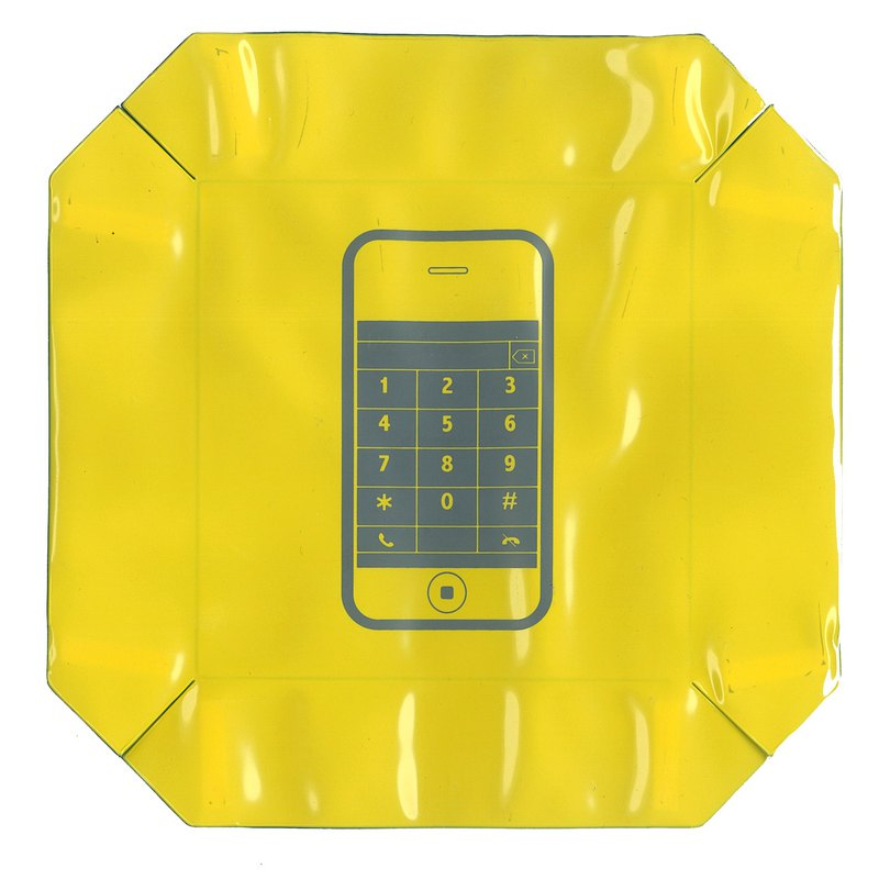 Super bowl Reversible Travel Tray(Yellow)