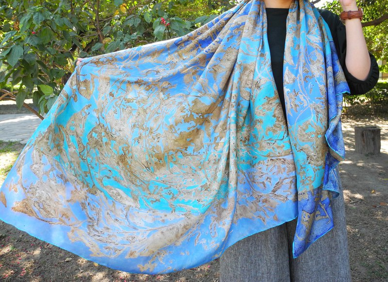 REGREEN | Plant History Series / Hear -6 Silk Scarf / Scarf