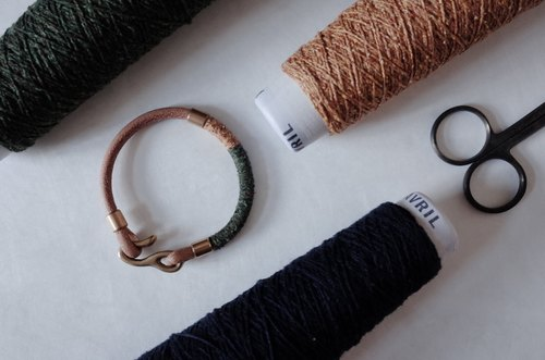 Made By. Atelier x StandOn - Japan Yarn Leather Bracelet I Merge Collection 日本綿麻皮革手環