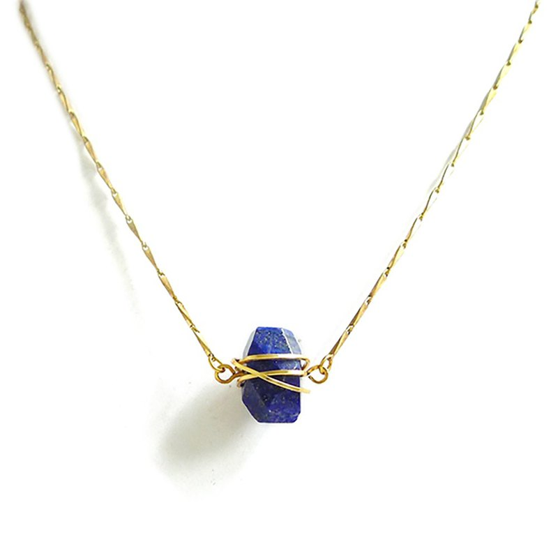 Ficelle | handmade brass natural stone bracelet | [seducing the seduction of snow woman] lapis lazuli