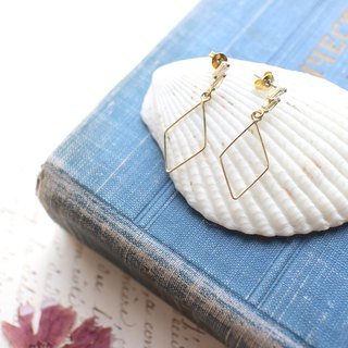 Lovely-brass handmade earrings