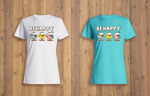 Pandahaluha Lady T-shirt (Be Happy)