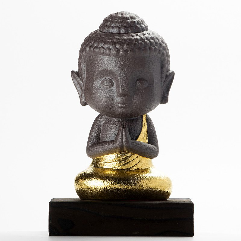 The sculpture Buddha -The little Humble Bodhisattva-gold edition