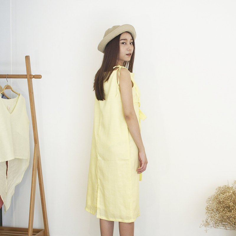 Spaghetti strap dress - Butter