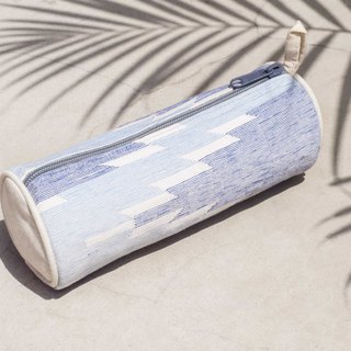 Daka woven cosmetic bag national wind bag pen tableware bag handmade canvas bag pen box - blue ocean