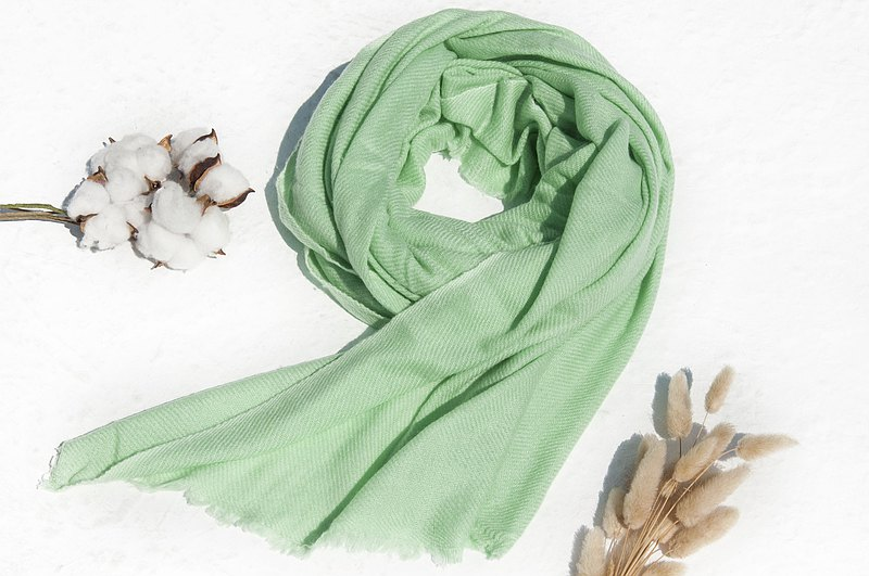 Cashmere/cashmere scarf/pure wool scarf shawl/ring cashmere shawl-mint green tea
