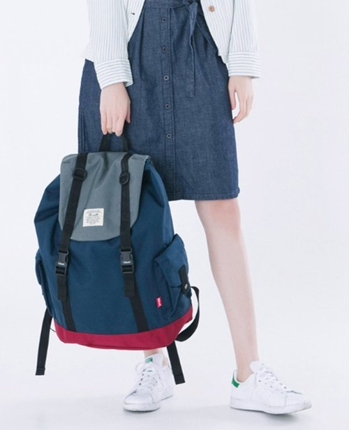 The-earth - Brick Rucksack - Backpack - Blue