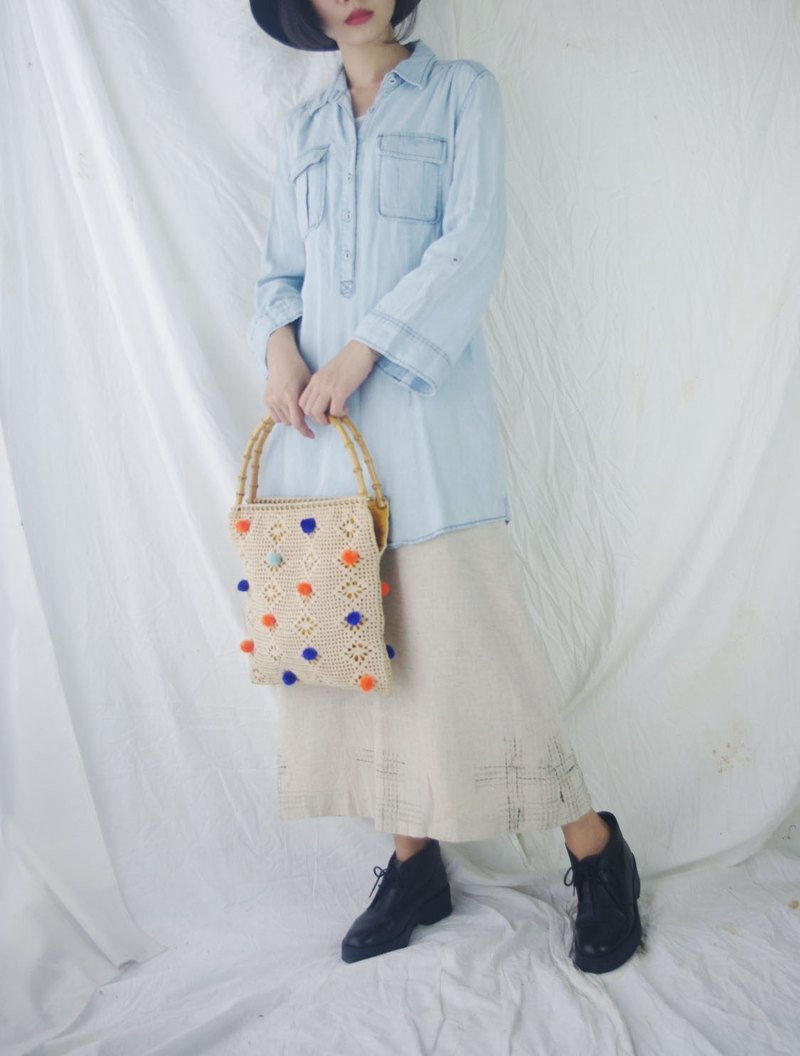 Treasure Hunt Vintage - Light Blue Long Denim Shirt Dress