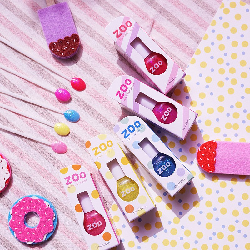 [New Year Lucky Bag] Five-piece Bunny Loves Donuts | ZOOㄖㄨˋChildren's disposable nail polish