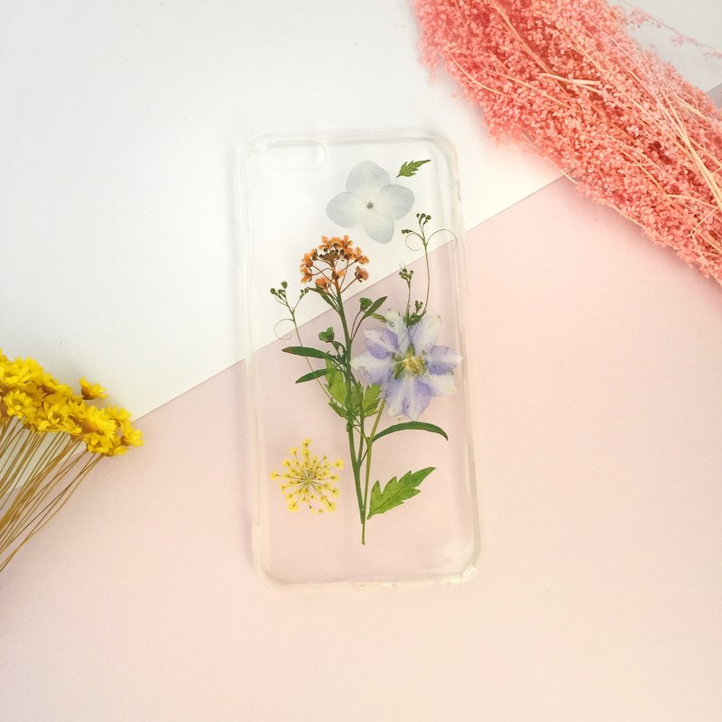 Lovely Summer Real flower phone case - for iphone 5/5s/SE/6/6s/6 plus/6s plus/7/7plus/Samsung S4/S5/S6/S6Edge/S7/S7Edge/Note3/Note4/Note5