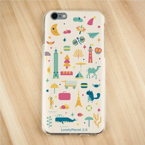 [Lonely Planet 2.0] Phone Case - urban patchwork - off-white (i7 to be ordered)