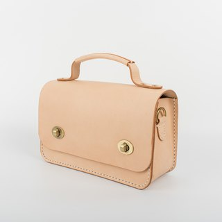 [Tangentialism] ★ small eyes ★ handmade leather briefcase handbag shoulder Messenger bag small square clutch bag