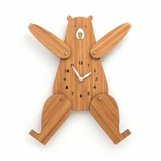 Kids wall clock, Bear