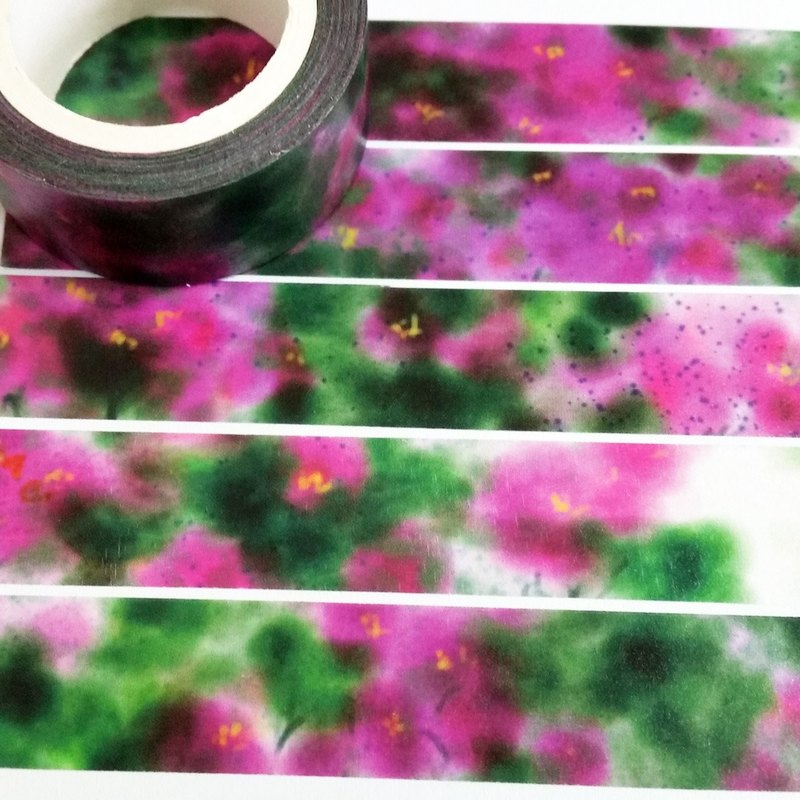 Sample Washi Tape Dyeing Peony