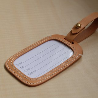 Hand leather leather baggage tag / identification certificate sets of Italian tannage