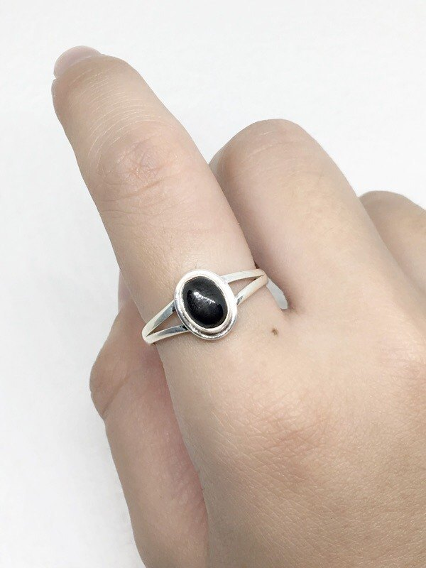 Black Star Stone 925 Sterling Silver Exotic Design Ring Nepal Handmade Mosaic (Figure 4)