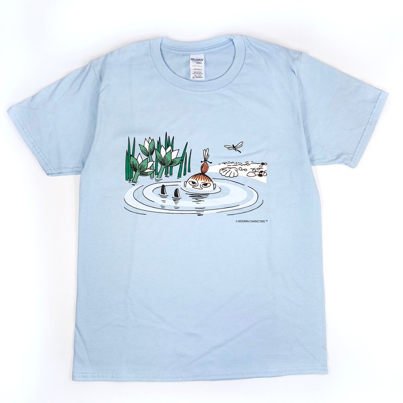 Moomin 噜噜米 authorized - short-sleeved T-shirt (water blue), AE53