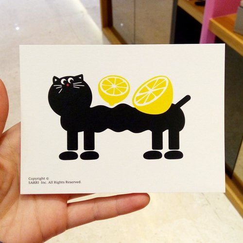 Cold Cat (A3 size poster) Birthday Card Design Coloring Illustrator Picture Card Universal Card Art Art Modern Lover Love Cute Taiwan