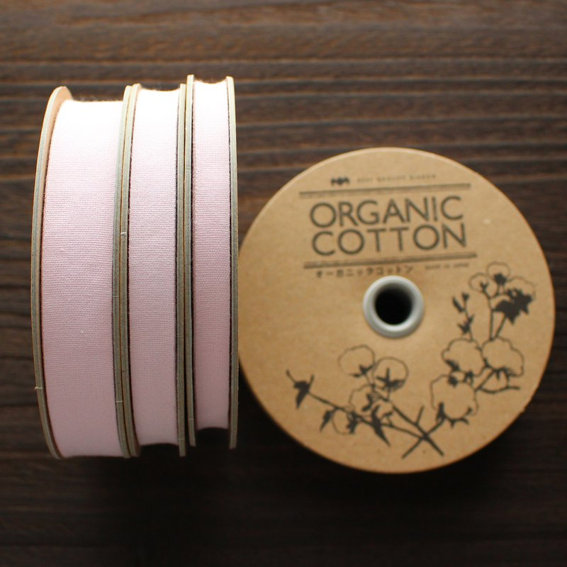 No,1101/#06 Organic Cottone Tape | Taffeta ribbon | woven in Japan  |sold by 20m