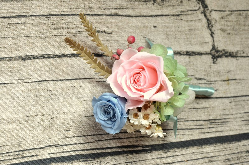 Not withered flower corsage
