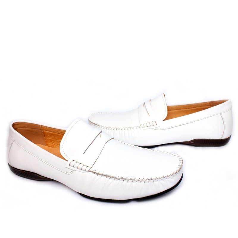 Filial Piety Temple will yield classic leather driving loafers white