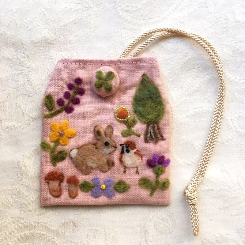 amulet bag of rabbit and sparrow