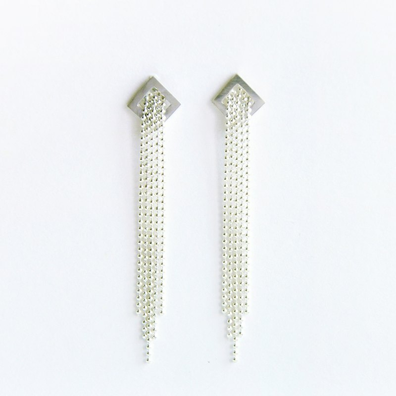 ∥Cheng Jewelry∥TAL dew night exposed I tassel silver ear needle