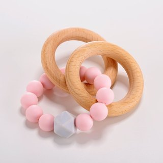 Handmade pink ring biting chain / Miyue gift birthday gift Christmas gift
