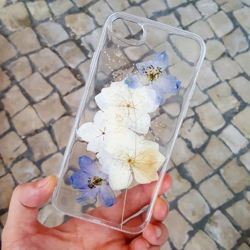 muk.gum.chi wild blue delphinium flowers Iphone / Samsung Phone Case Exclusive