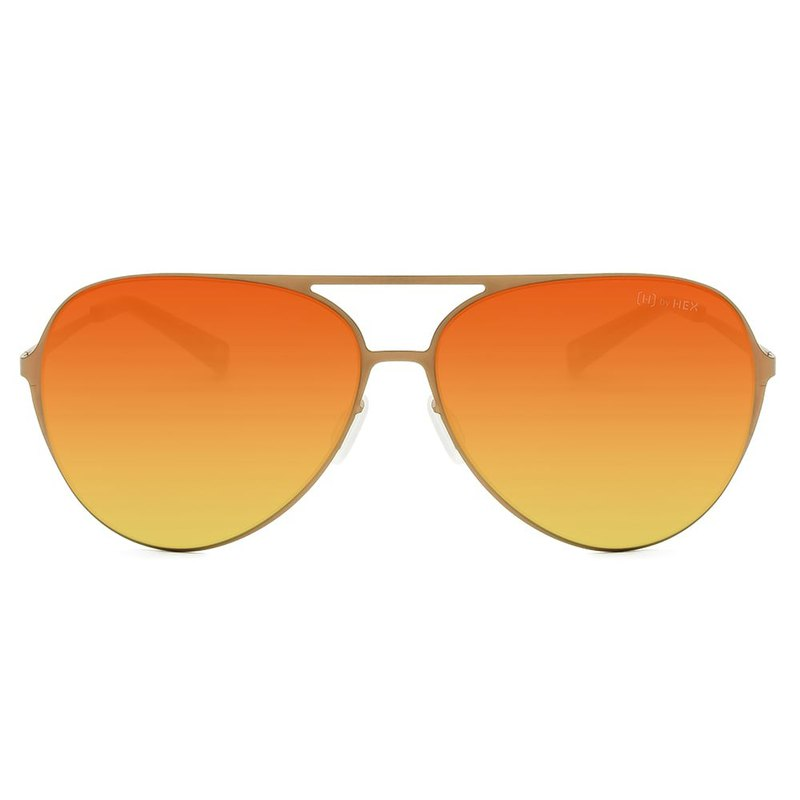 Sunglasses | Sunglasses | Classic Orange Pilot | Made in Taiwan | Metal Framed Glasses