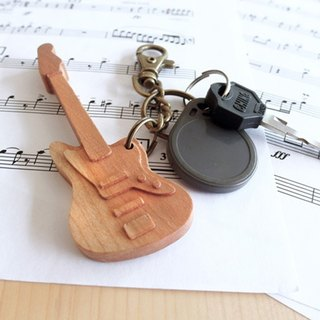 [Musical instrument series] bass key ring Bass // cherry wooden key ring pendant charm