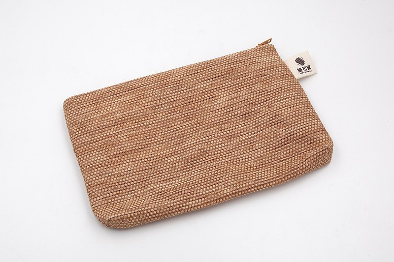 【Paper home】 Paper woven cosmetic bag brown