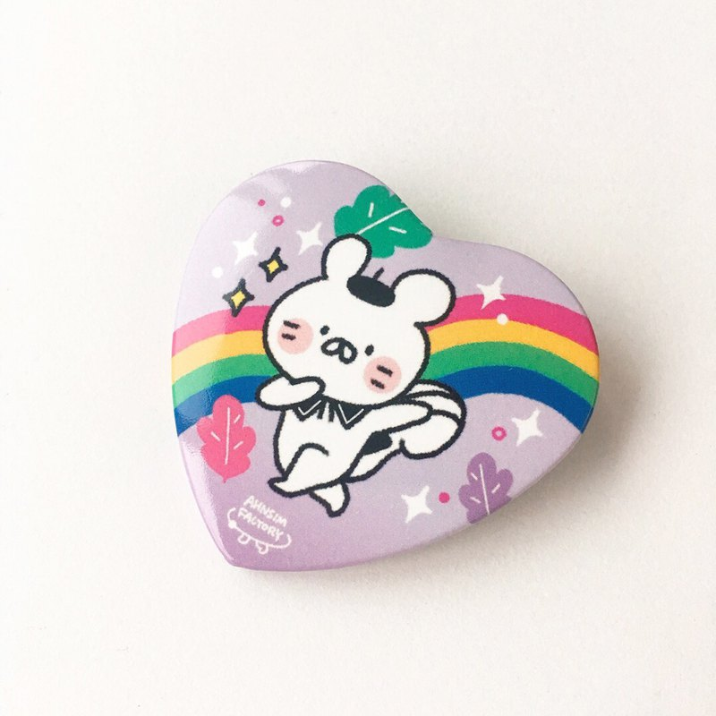 heart pin button
