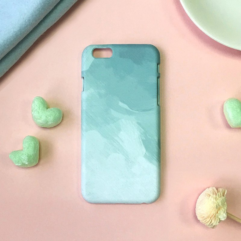Tiffany green brush - iPhone (i5.i6s, i6splus) / Android (Samsung Samsung, HTC, Sony) original phone case / protective cover / customizable