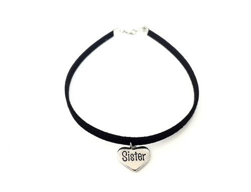 Sister Love Silver Necklace