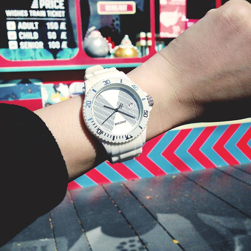 【PICONO】POP Circus Sport Watch - Lucky Fish(White) / BA-PP-12
