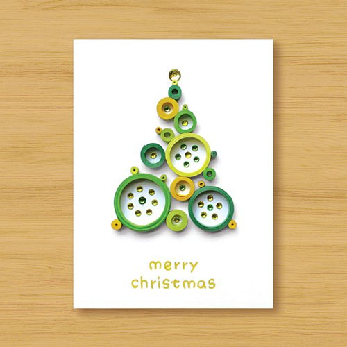 Hand-rolled paper card three-dimensional card _ from afar blessing ‧ dream bubble Christmas tree _K ..... Christmas card, Christmas, Christmas tree