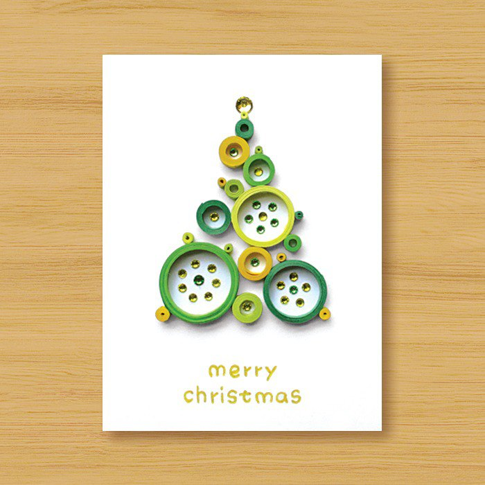 Handmade Roll Paper Christmas Card _ Blessings from afar ‧ Dream Bubble Christmas Tree _K