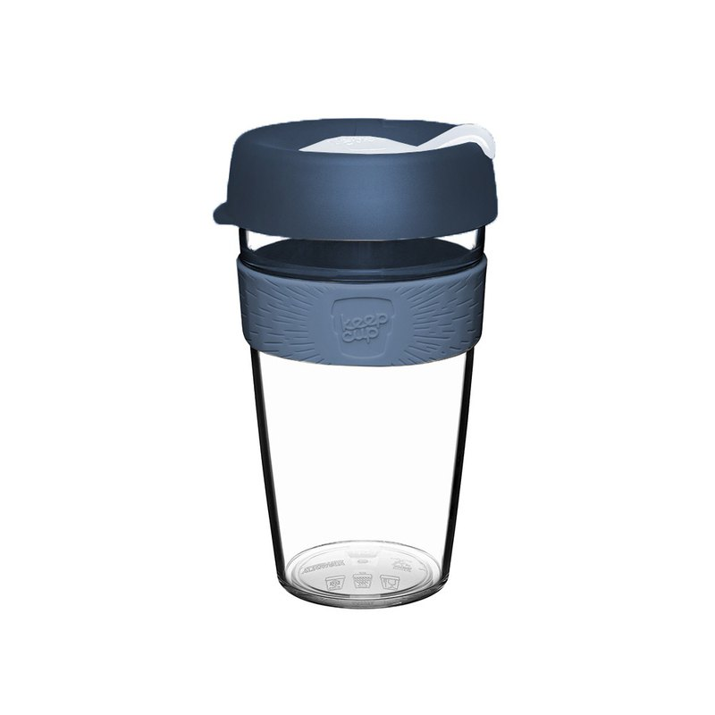 KeepCup Clear L - Blue White
