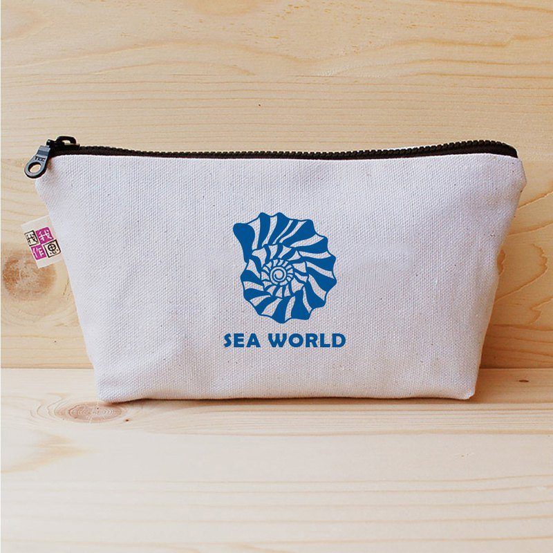 SEA WORLD_shell large pencil case